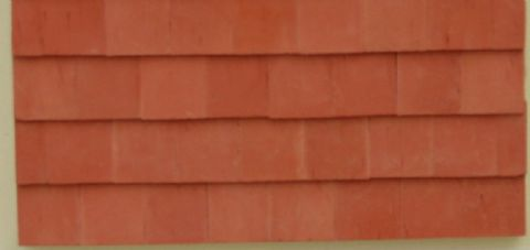 Red Roof Tiles - Small - Dolls House - 1/24th Scale.